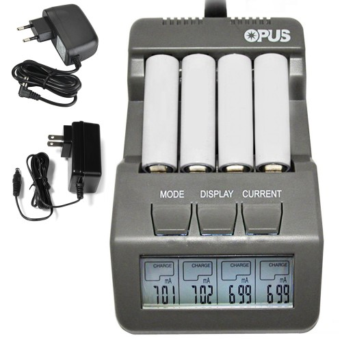 4 Slots Opus BT C700 LCD Digital Intelligent Battery Charger