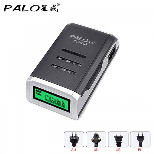 Charger 4 Slots LCD Display Smart Intelligent Battery Charger