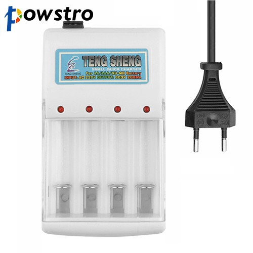 Universal Battery Charger AC 220V EU Plug 4 Ports Batteries Charger