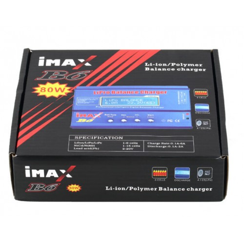iMAX B6 LCD Screen Digital RC Battery Balance Charger 80W