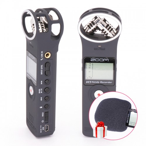 Handy Portable Digital Recorder PocketStereo Interview Microphone Vlogging Video Mic Windscreen