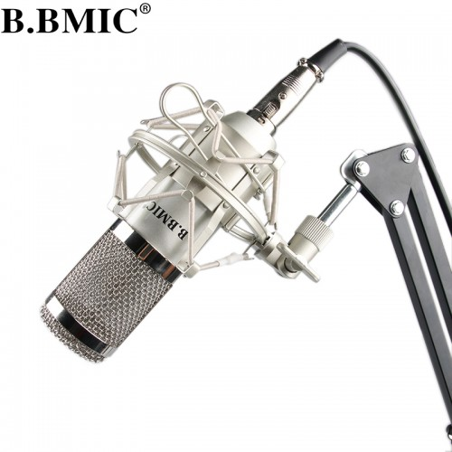 Microphone Professional Condenser Microphone Pro Audio Studio Recording Mic Karaoke Metal Shock