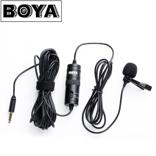 Omnidirectional Camera Lavalier Condenser Microphone Mic
