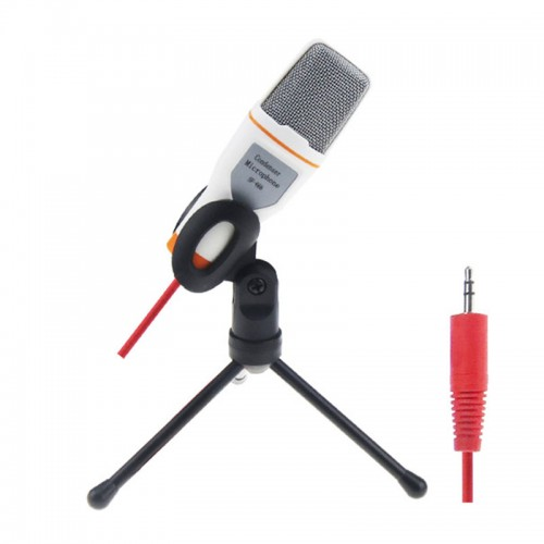 Useful wired high quality stereo condenser microphone with holder clip