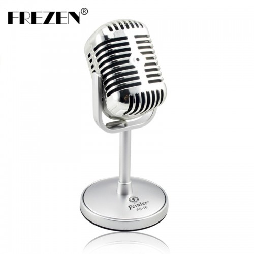 Vintage Microphone Studio Wired Classic Retro Condenser Microphone Professional Old Style for Computer