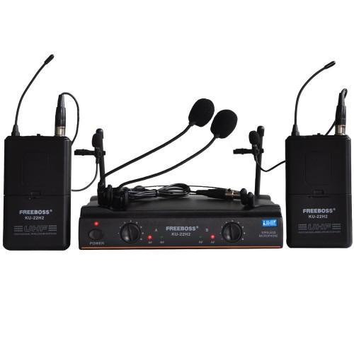 Wireless Microphone System Karaoke Lapel Headset microphone Bodypack