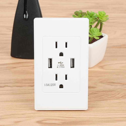 High Speed USB Wall Socket US Plug Dual USB Port Charger USB Wall