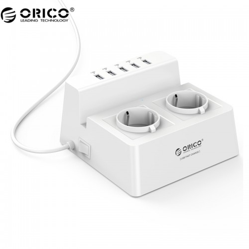 Smart Charging Desktop Charger AC Outlets and USB Ports