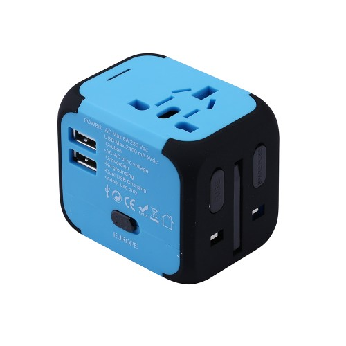 Travel Adapter Electric Plugs Sockets Converter with Dual USB Charging