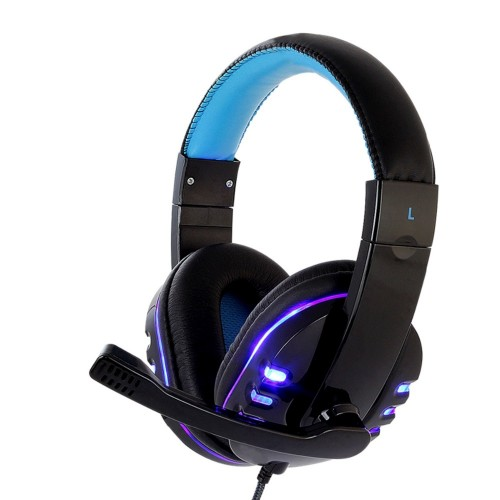 CH1 stereo headphone headset casque Deep Bass Computer Gaming Headset PS4 with Mic LED Light for