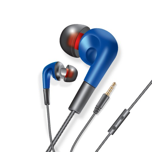 Audionic D-10 Damac Premium Stereo In Ear Angled Earphones With Two Sets Extra Eartips