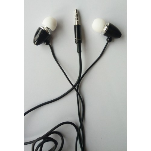 MSN Black 3.5mm In Ear Headphones Universal Stereo Hands-Free