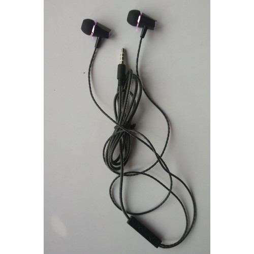 Black Super Bass Stereo Handsfree High Quality