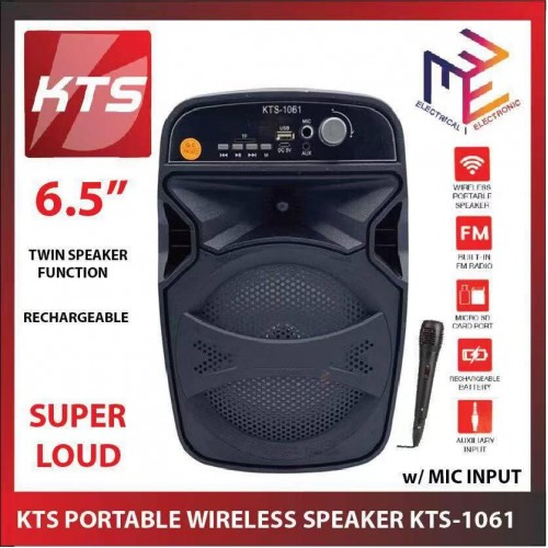 KTS Portable Wireless Karaoke Bluetooth Speaker High Bass With Mic