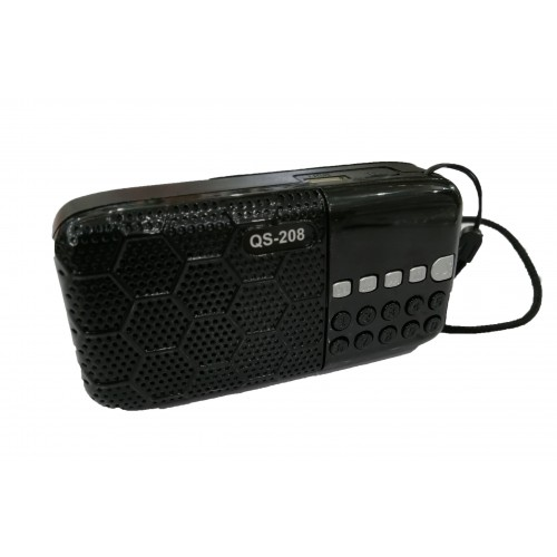QS-208 Multi-function Portable Player Bluetooth Speaker FM TF USB With Flash