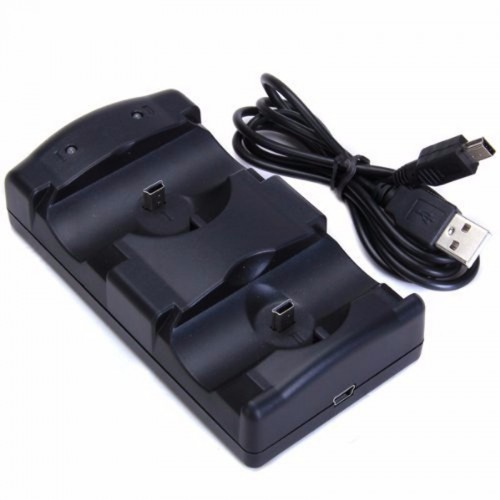 Dual Charger Dock Station Cable Powered Charging Stand for Sony