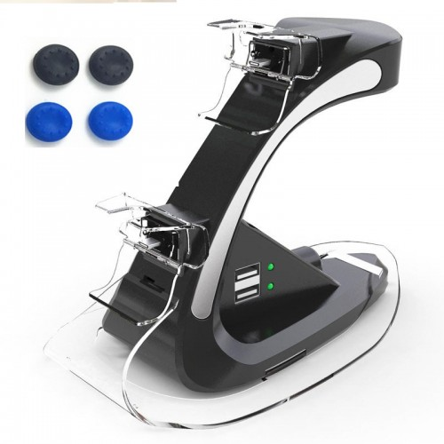 Dual Controllers Charger Charging Dock Stand Support Holder Station For Sony PlayStation Gamepad