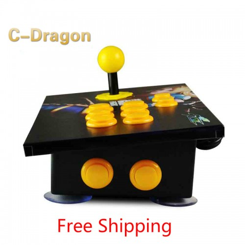 Cdragon arcade stick USB rocker arcade joystick KOF Street Fighter three and PC computer game handle