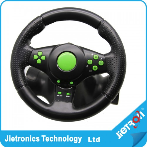 Vibration Racing Steering Wheel and Pedals for XBOX.360 PS3 PS2 PC USB