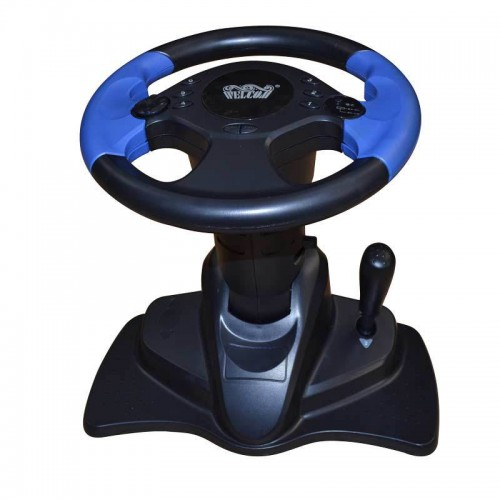 computer game steering wheel steering wheel vibration online red and blue