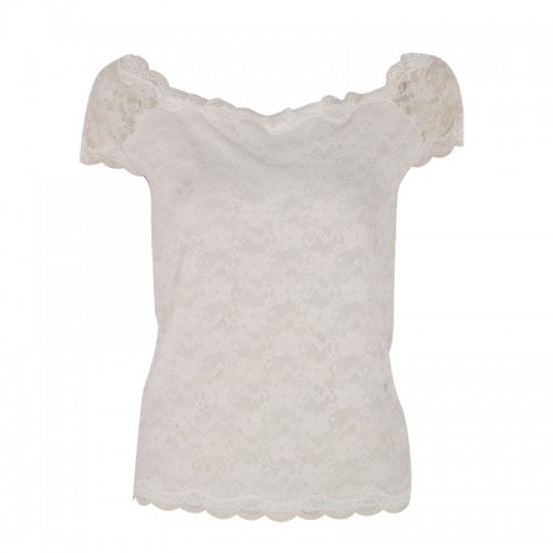 Floral Full Lace Short Sleeve Tee Shirt