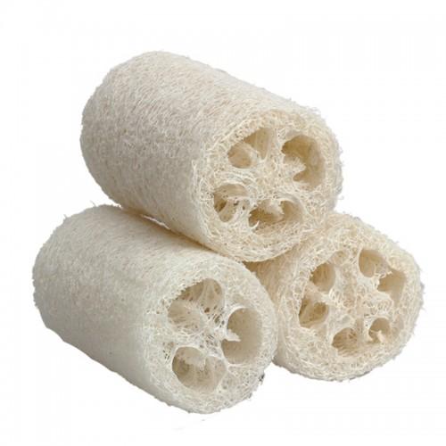 3pcs Natural Loofah Luffa Shower Loofa Bath Body Shower Sponge Scrubber Small Size