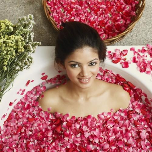 50g Bag Dry Rose Petal Natural Flower Spa Bath Relieve Fragrant Body Massager