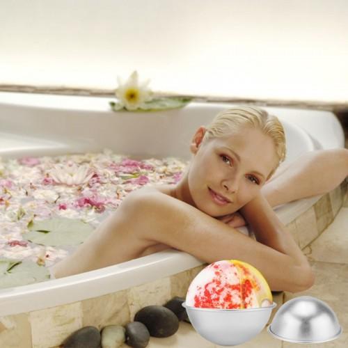Bath Bomb Molds Mould Aluminum Ellipsoid Bath Bomb 3D Ball Sphere Shape DIY Bathing Tool Accessories