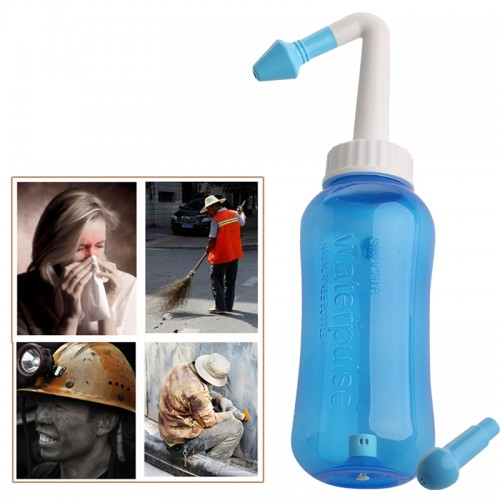 New Nose Wash System Sinus Allergies Relief Nasal Pressure Rinse Neti pot