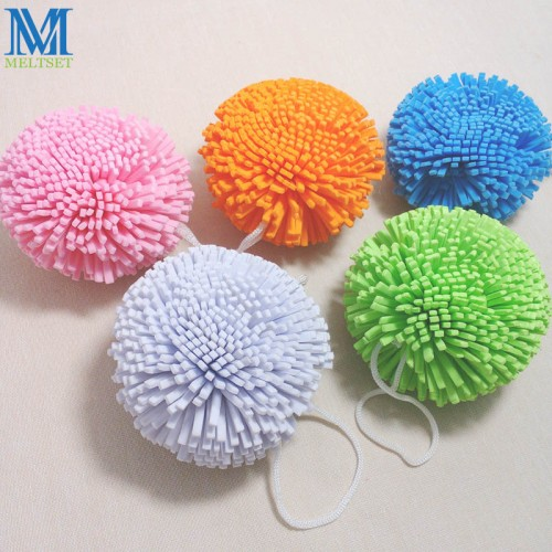 Candy Color Natural Bath Ball Soft Comfortable Bath Sponge Easy Cleaning Bath Flower Mesh