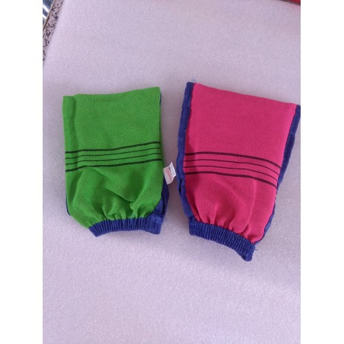 Double sided hammam scrub mitt magic peeling glove exfoliating tan removal mitt