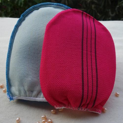 Free shipping 4pcs lot italy towel korea glove viscose scrub mitt body scrub glove kessa mitt