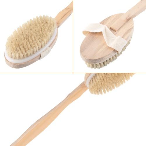 High Quality Long Handled Body Bath Shower Back Brush Scrubber Massager Body Brush Massager Bath Shower