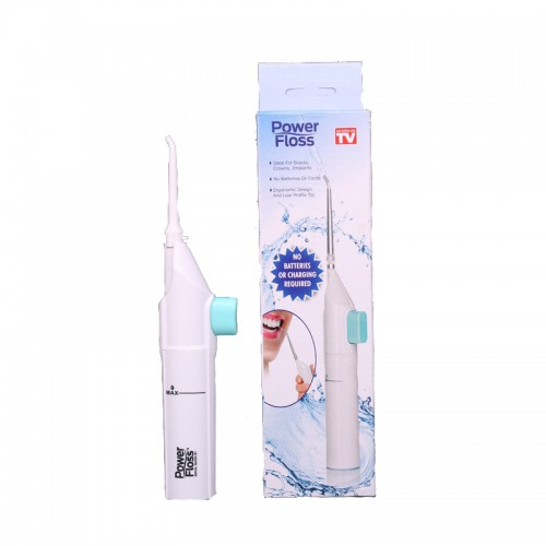 Portable Power Floss Dental Water Jet Tooth Pick No Batteries Dental Cleaning Whitening Cleaner Kit