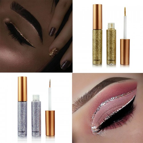 Color Pencils Eye Liner Makeup Natural Waterproof Shimmer White Gold Silver Make Up Liquid
