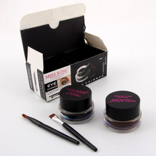 Eye Liner Cream Best Seller 2 in 1 Coffee Black Gel Eyeliner Make Up Waterproof Cosmetics.
