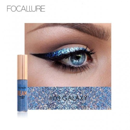 FOCALLURE Waterproof 5 Colors Glitter Eyeliner Diamond Eyeshadow For Easy to Wear Liquid Eyeliner Beauty.