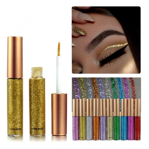 Makeup Color Pencils Eye Liners Makeup Natural Waterproof Shimmer Gold Silver Make Up Liquid Shining Glitter.