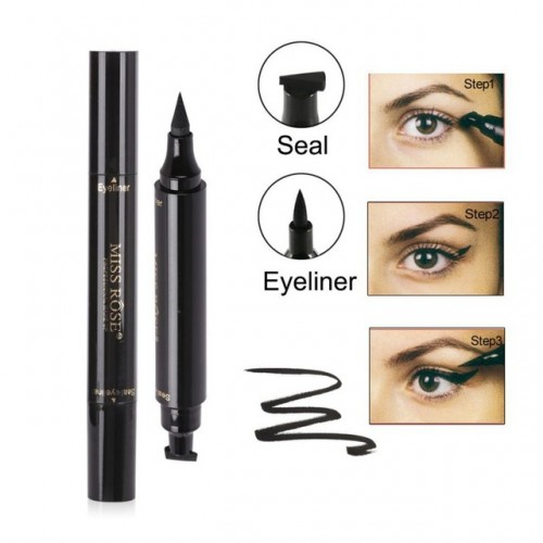 Makeup Liquid Eyeliner Pencil maquiagem Solid Black Waterproof Eye Liner With Stamp Beauty Eye Pencil.