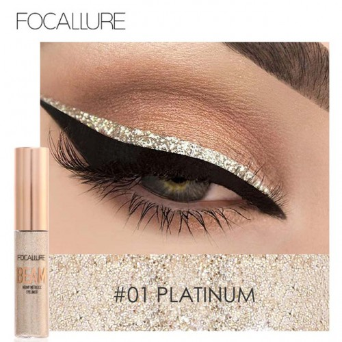 New Shimmer Color Eye Liner Brand Cosmetics Waterproof Pigments Pink Blue Gold Glitter Eyeliner Focallure