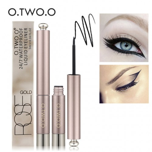 O TWO O Brand Black Eye Makeup Liquid Eyeliner Easy To Wear Black Eyeliner Waterproof Lasting.