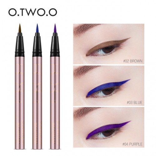 O TWO O Colorful Purple Liquid Eyeliner Eye Make Up Super Waterproof Long Lasting Eye Liner.