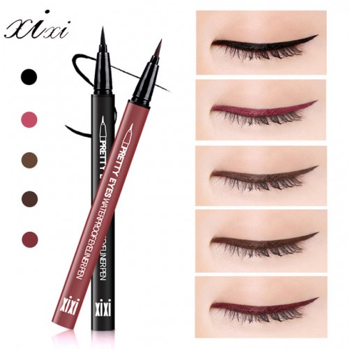 XIXI Brand Eye Liner Cosmetics Long Lasting Waterproof Pigment Natural Black Red BrownColor Pencil Eyeliner Makeup.