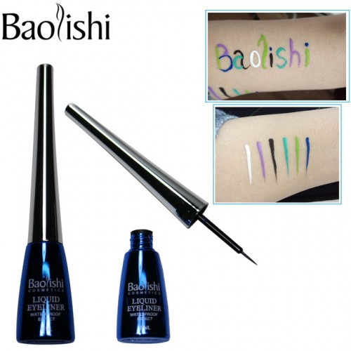 baolishi 6 color Long lasting Waterproof Liquid Eyeliner makeup pencil eye liner brand cosmetic eyeliner.