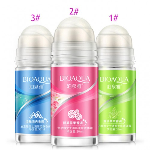 BIOAQUA Ball Body Lotion Antiperspirants Underarm Deodorant Roll on Bottle Women Fragrance Men Smooth Dry Perfumes.