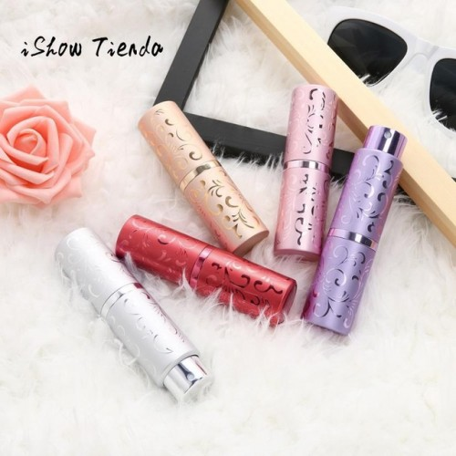 ISHOWTIENDA 15ml Portable Mini Travel Perfume Bottle Atomizer Pump Case Rotating Spray Bottle fragrances beauty health.