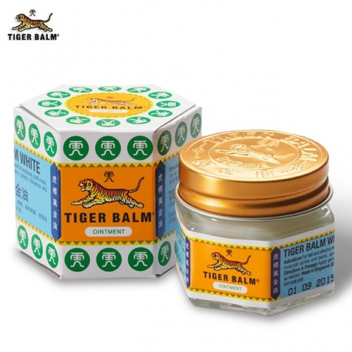 White Tiger Balm Ointment Painkiller Muscle Pain Relief Ointment Soothe itch for Headache and suffy nose.