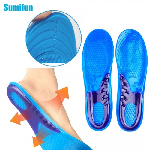 1Pair Unisex Insole Orthotic Arch Support Sport Shoe Pad Sport Running Gel Insoles Massaging Insoles Feet