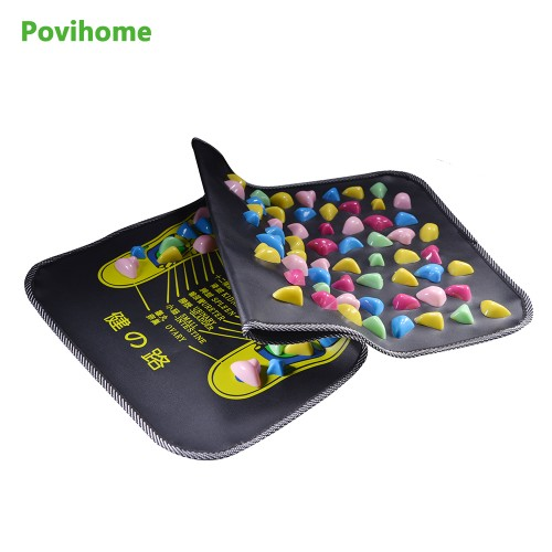 Acupressure Gravel Massager Mat Relieve Stress Pain Foot Massage accupuncture Natural Relief Stress Tension Walk Massage