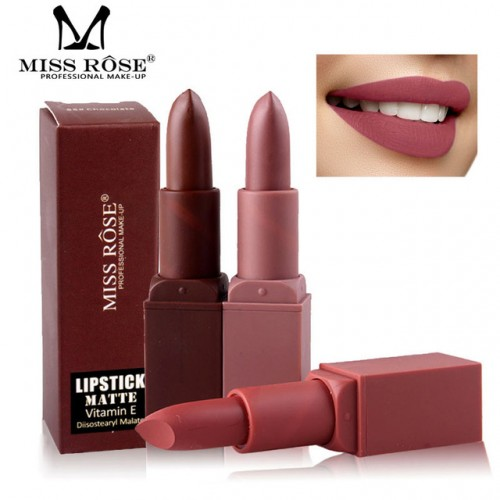Miss Rose Professional Matte Lips Makeup Kiss proof lipstick Batom Pencil Brown Lip Stick Nude Red.jpg 640x640